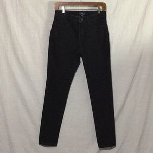 NYDJ Black Wash Denim Legging Made In U.S.A.